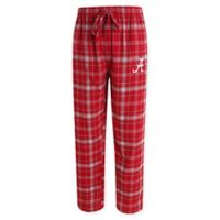 University of Alabama Men's Large Flannel Plaid Pajama Pant with Left Leg Team Logo