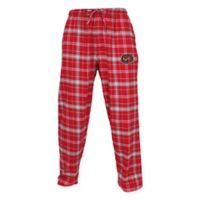 Temple University Men's Medium Flannel Plaid Pajama Pant with Left Leg Team Logo