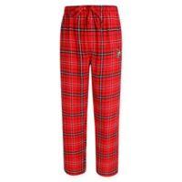 University of Louisville Men's Small Flannel Plaid Pajama Pant with Left Leg Team Logo