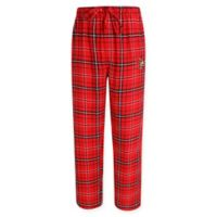 University of Louisville Men's Medium Flannel Plaid Pajama Pant with Left Leg Team Logo