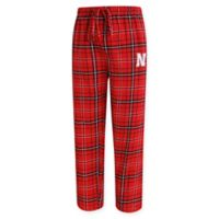 University of Nebraska Men's Medium Flannel Plaid Pajama Pant with Left Leg Team Logo