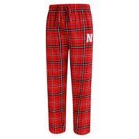 University of Nebraska Men's Small Flannel Plaid Pajama Pant with Left Leg Team Logo