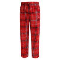 University of Wisconsin Men's Large Flannel Plaid Pajama Pant with Left Leg Team Logo