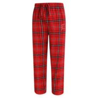 University of Wisconsin Men's 2XL Flannel Plaid Pajama Pant with Left Leg Team Logo