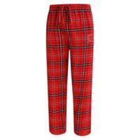 University of Wisconsin Men's X-Large Flannel Plaid Pajama Pant with Left Leg Team Logo