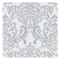 Sweet Jojo Designs Avery Fabric Memo Board in Blue and Grey
