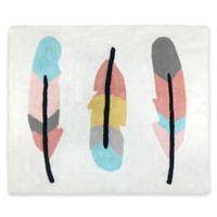 Sweet Jojo Designs Feather 30-Inch x 36-Inch Accent Floor Rug