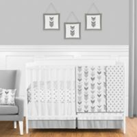 Sweet Jojo Designs Mod Arrow 11-Piece Crib Bedding Set in Grey/White