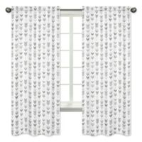 Sweet Jojo Designs Mod Arrow Print 84-Inch Window Panels in Grey