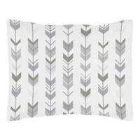 Sweet Jojo Designs Mod Arrow Standard Pillow Sham in Grey