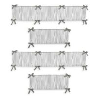 Sweet Jojo Designs Woodsy 4-Piece Reversible Crib Bumper Set in Grey/White