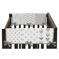 Sweet Jojo Designs Woodsy Short Rail Guards in Grey/White (Set of 2)