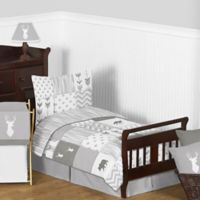 Sweet Jojo Designs Woodsy 5-Piece Toddler Bedding Set in Grey/White