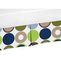 Sweet Jojo Designs Designer Dot Crib Skirt in Navy/Taupe