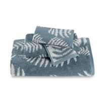 Sanderson Fern Jacquard Hand Towel in Cadet Blue