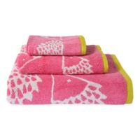 Scion Spike Jacquard Hand Towel in Azalea