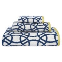 Scion Lace Hand Towel in Indigo