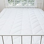 Allied Home Chevron Lux Quilted King Mattress Pad in White
