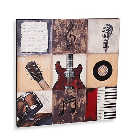 rock the music printed canvas wall art - bed bath & beyond