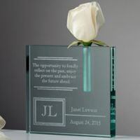 For The Retiree Engraved Clear Bud Vase