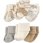 Luvable Friends™ Newborn 6-Pack Safari Socks