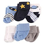 Luvable Friends™ Newborn 6-Pack Outer Space Socks