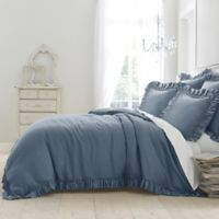 Wamsutta® Vintage Gauze Ruffle Full/Queen Duvet in Blue Jean