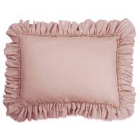 Wamsutta® Vintage Gauze Ruffle Standard Pillow Sham in Mauve