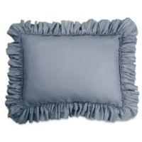 Wamsutta® Vintage Gauze Ruffle King Pillow Sham in Blue Jean