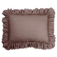 Wamsutta® Vintage Gauze Ruffle King Pillow Sham in Dark Mauve