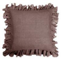 Wamsutta® Vintage Gauze Ruffle European Pillow Sham in Dark Mauve