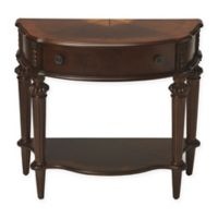 Butler Specialty Company Halifax Demilune Console Table in Dark Brown