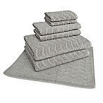 American Dawn 7-Piece Chevron Bath Towel Set in Grey