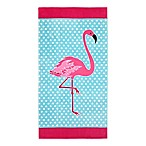 Global Flamingo Dots Beach Towel