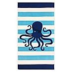 Global Octopus Icon Beach Towel