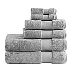 Madison Park Signature Turkish Cotton Bath Towels in Silver (Set of 6)