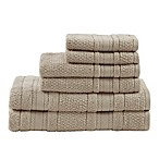 Madison Park Essentials Adrien Bath Towels in Wheat (Set of 6)