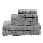 Madison Park Essentials Adrien Bath Towels in Silver (Set of 6)