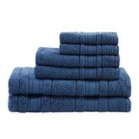 Madison Park Essentials Adrien Bath Towels in Blue (Set of 6)
