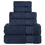 Laural Home Spa Collection 6-Piece Bath Towel Set in Navy