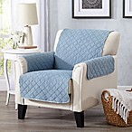 Great Bay Home Laurina Chair Cover in Marine Blue