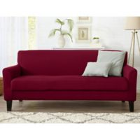 Great Bay Home Dawson Twill Sofa Slipcover in Red