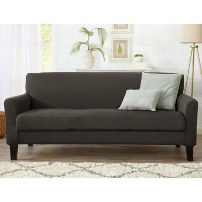Merveilleux Great Bay Home Dawson Twill Sofa Slipcover In Cloudburst Grey
