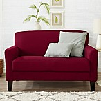 Great Bay Home Dawson Twill Loveseat Slipcover in Red