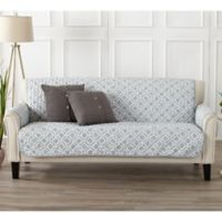 Great Bay Home Liliana Sofa Furniture Cover in Storm Grey