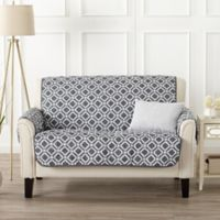 Great Bay Home Liliana Loveseat Furniture Cover in Steel Grey