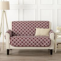 Great Bay Home Liliana Loveseat Furniture Cover in Red