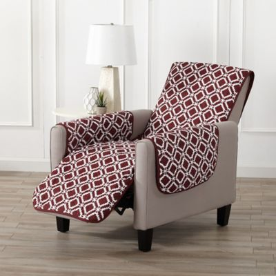 Great Bay Home Liliana Recliner Furniture Cover In Red