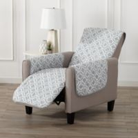 Great Bay Home Liliana Recliner Furniture Cover in Storm Grey