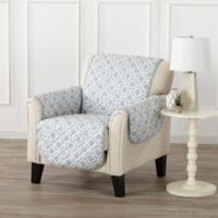 Great Bay Home Liliana Chair Furniture Cover in Storm Grey